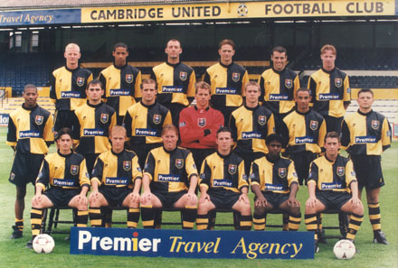 Davy in the Cambridge Squad photo - front left